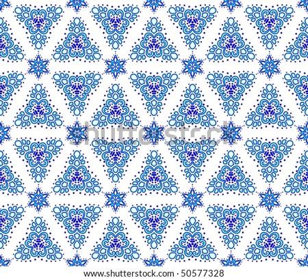 Blue on white seamless arabesque (Eps10); JPG version also available - stock vector