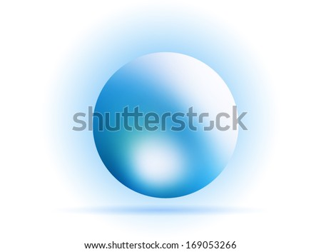 blue orb sphere  abstract  background with gradients mesh  lines vector illustration eps 10 - stock vector