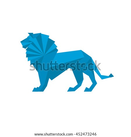 Origami Lion Vector Bigking Keywords And Pictures