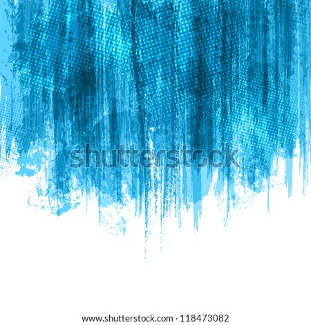 Blue Paint Splashes Background. Vector eps10 - stock vector