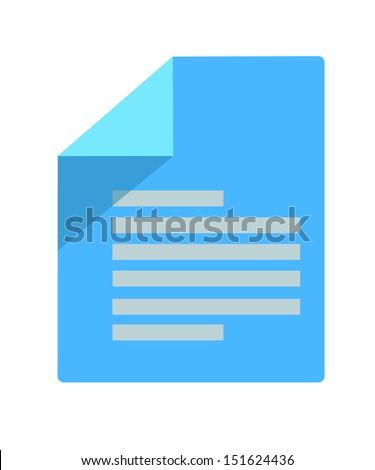 blue paper icon - stock vector