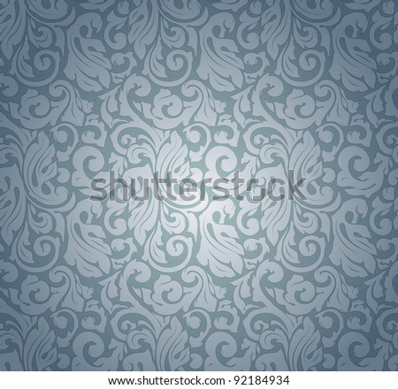 Blue pattern seamless, vector - stock vector