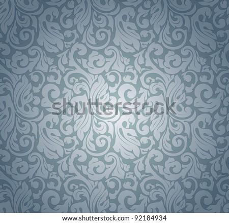 Blue pattern seamless, vector - stock vector