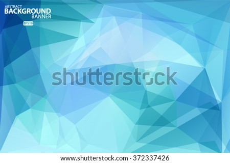 Blue  pattern, triangles background, polygonal design. Vector EPS 10 illustration. Vector EPS 10 illustration. - stock vector