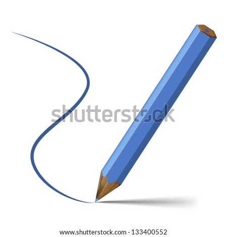 Pencils Line Drawing Blue Pencil With Line That it