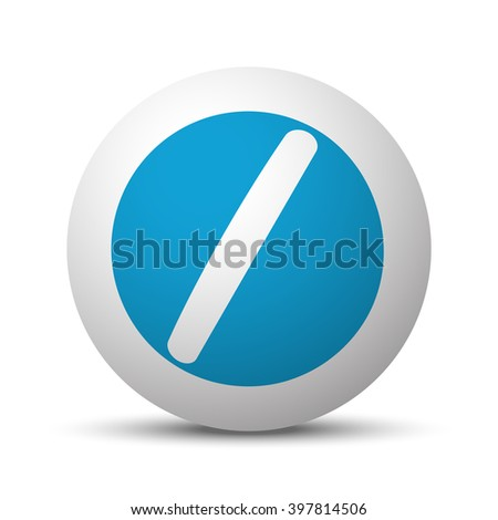 Blue Pill icon on sphere on white background - stock vector