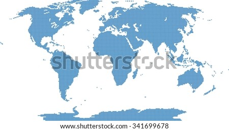 Blue pixel world map on white stock vector 341699678 shutterstock blue pixel world map on white background vector illustration gumiabroncs Choice Image