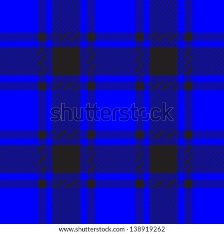 blue plaid pattern for background - stock vector