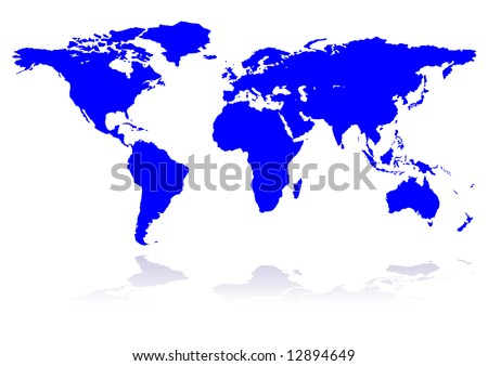 blue planet, continents, background, world, vector - stock vector