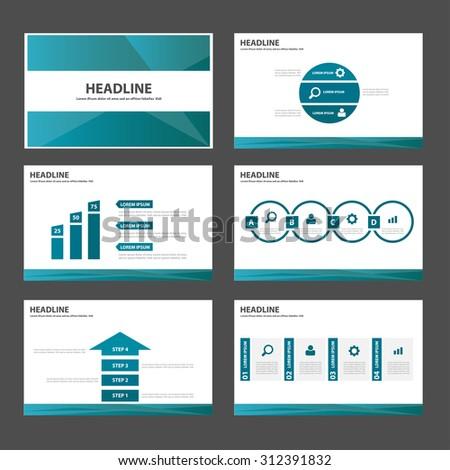 blue polygon Multipurpose infographic Presentation template flat design set for advertising marketing web brochure flyer leaflet  - stock vector