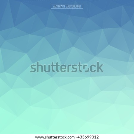 Blue polygon pattern. hexagon background. triangle background, Design element with blue gradient - stock vector