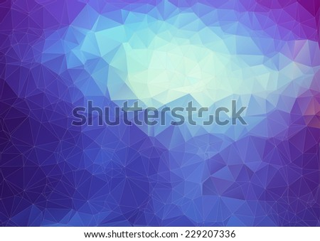 Blue polygonal abstract background. Triangles background for your design - stock vector