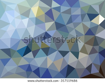 Blue polygonal mosaic. Triangular low poly style.