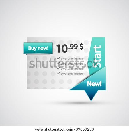 Blue price label - stock vector
