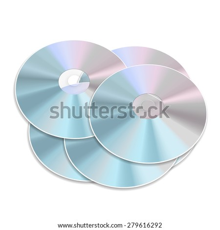 blue-ray CD or DVD isolated on white background