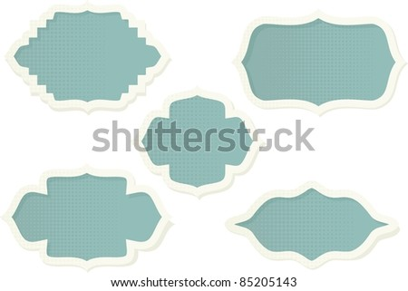 blue retro banners - stock vector