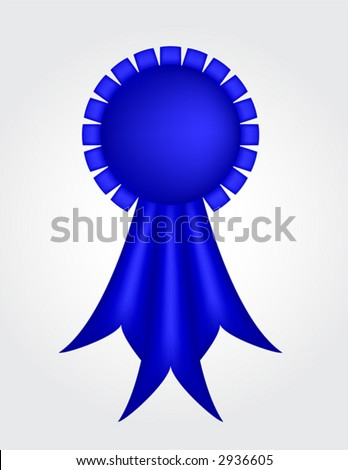 Blue Ribbon (with gradient mesh) - stock vector