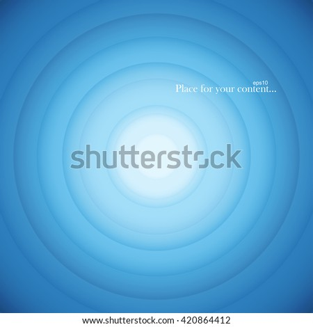 Blue round abstract background. Vector illustration eps10. - stock vector