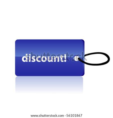 Blue sale tag. Vector - stock vector