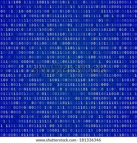Blue screen of death computer binary code  vector background - stock vector