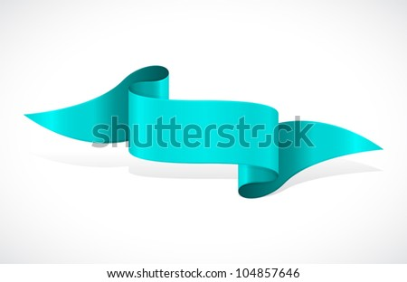 blue scroll banner - stock vector