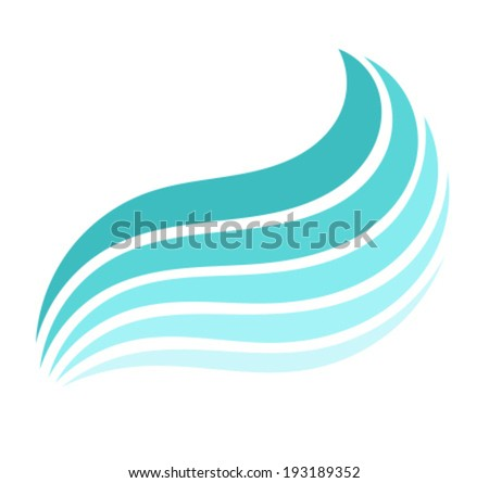Blue Sea wave. Vector illustration - stock vector