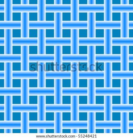 blue seamless horizontal mesh, abstract texture; vector art illustration - stock vector
