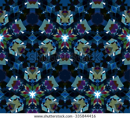 Blue seamless pattern. Seamless pattern composed of color abstract elements located on white background. Useful as design element for texture, pattern and artistic compositions. Vector illustration. - stock vector