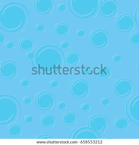 Blue seamless pattern. Texture with transform twirl blue white circles