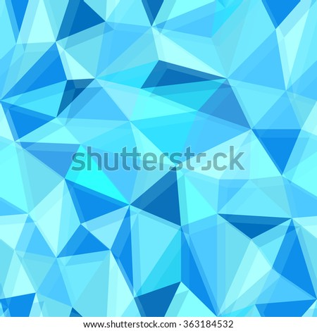 Blue seamless polygon pattern from triangles.