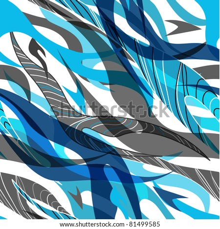 Blue seamless texture - stock vector