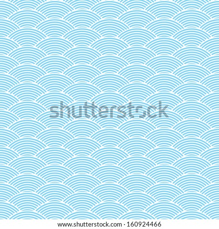 blue seamless waves abstract pattern  - stock vector