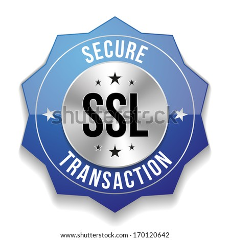 Blue secure transaction badge