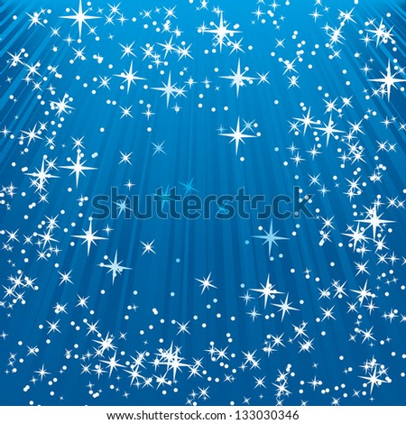 Blue shine star background - stock vector
