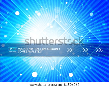 Blue shine. Vector background