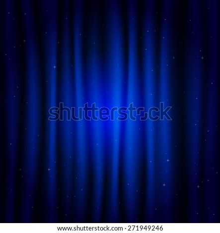 Blue shining background with lights