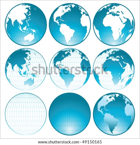 blue shiny globes collection