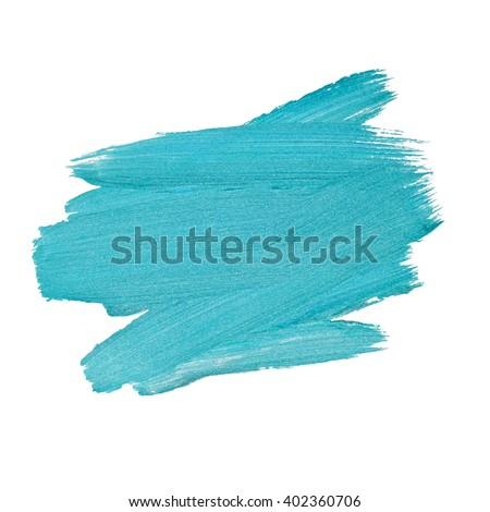 Blue Silver Foil Glitter Brush Stroke. Stroke Vector Design Illustration. Foil Shiny template. Pearl Gloss Design.