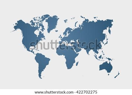 Blue similar world map blank world vector de stock422702275 blue similar world map blank world clean flat map vector illustration eps 10 gumiabroncs Gallery