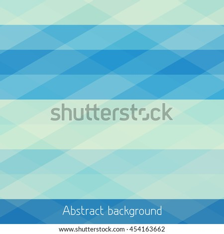 Blue simple pattern. Abstract geometric background with horizontal stripes. Vector graphic pattern - stock vector