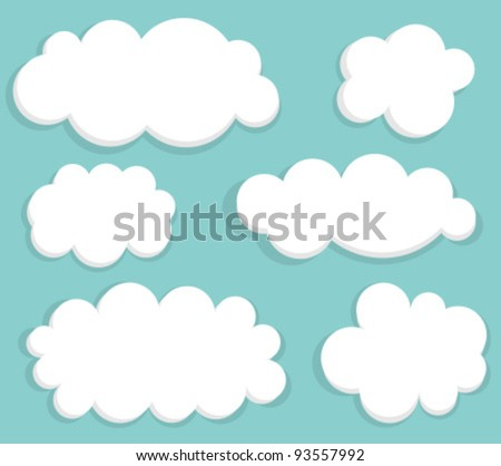 Blue sky and clouds. Vector illustration - stock vector