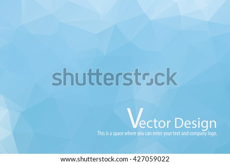 blue sky cloud abstract low poly background vector