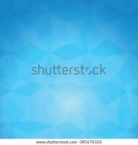 blue sky Polygonal Mosaic Background, Vector illustration, Creative Business Design Templates - stock vector