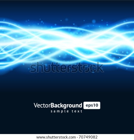Blue smooth waveform vector background - stock vector