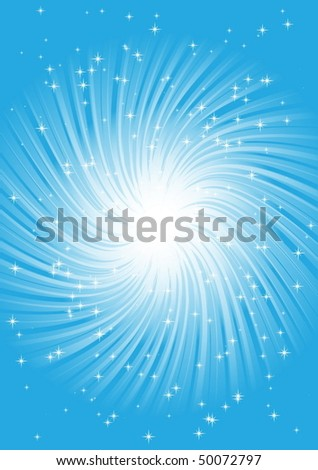 Blue space whirlpool - stock vector
