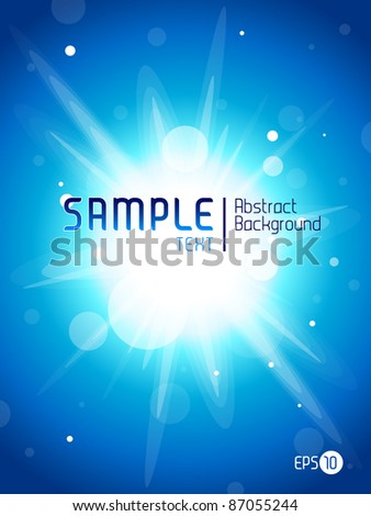 Blue Splash Abstract Background - stock vector