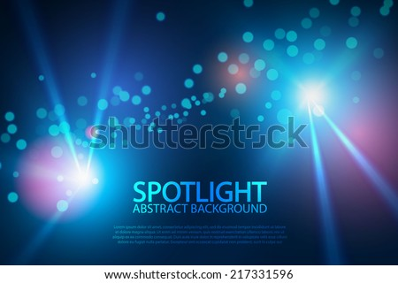Blue spotlight for your design. Vector illustration - stock vector