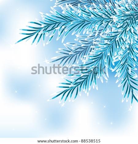 Blue spruce brunch - stock vector
