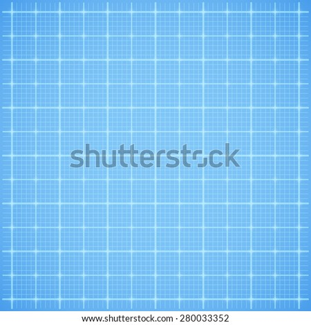 Blue square grid paper background. Vector illustration - stock vector