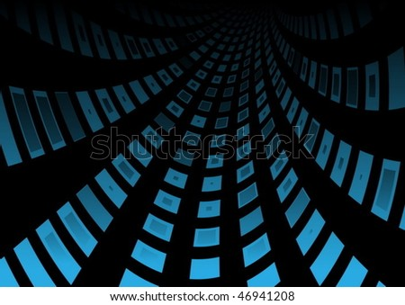 Blue squared highway - stock vector